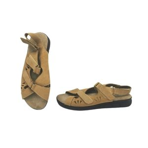 SIZE 7 B - Traditions, Brown Leather Suede NWOB